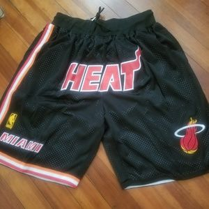 Just Don Miami Heat Basketball Shorts